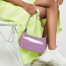 ออกแบบใหม่หนังผู้หญิงกระเป๋าถืออะคริลิคโซ่ไหล่กระเป๋าผู้หญิงนาฬิกาข้อมือ PU กระเป๋าถือสุภาพสตรี Messenger กระเป๋า 2020
