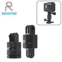 RuigPro 360 Degree Swivel Rotating Aluminium Tripod Mount Adapter for GOPRO Hero 3+ 4 5 6 7 Session/Xiaomi Yi/SJ
