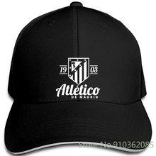 Camiseta De fútbol del Atlético De Madrid para hombre y mujer, gorras De béisbol ajustables con estampado De La Liga española