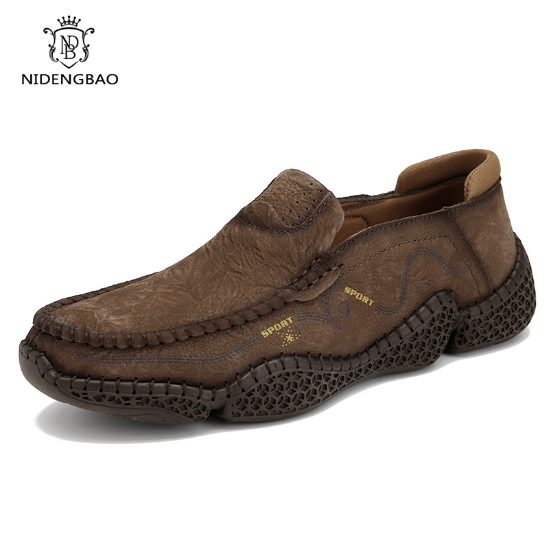Brand Quality Leather Shoes Men Loafers 2020 New Breathable Men's Casual Driving Oxfords Shoes Men Flats Shoes Moccasins Shoes