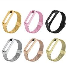 Smart bracelet strap for Xiaomi mi Band 3 4 Metal stainless steel wrist Accessories 1sh