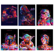 Star Wars Movie Posters Star Wars Darth Vader Yoda Canvas Prints Painting Wall Art Home Decoration Picture Living Room Cuadros