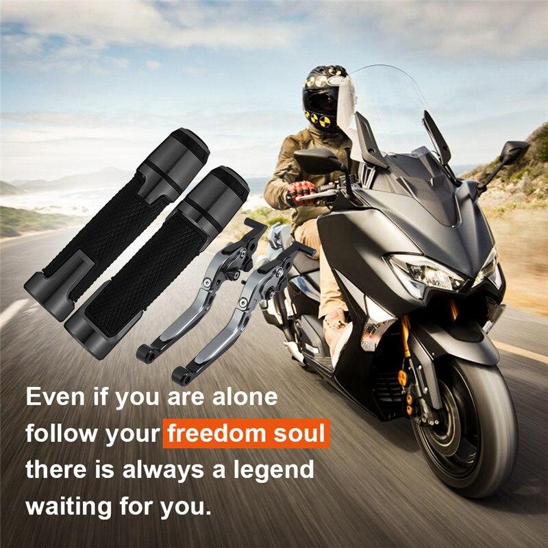 Motocicleta CNC Adjustable Palanca de Embrague de Freno para Yamaha Tmax 530 500 2008-2018-Rojo+Negro+Rojo+Negro