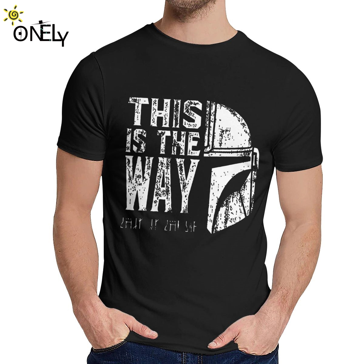 O-neck The Mandalorian Star Wars This Is My Way T-<font><b>shirt</b></font> Graphic Print For Male Slim T <font><b>Shirt</b></font> <font><b>Big</b></font> Size image