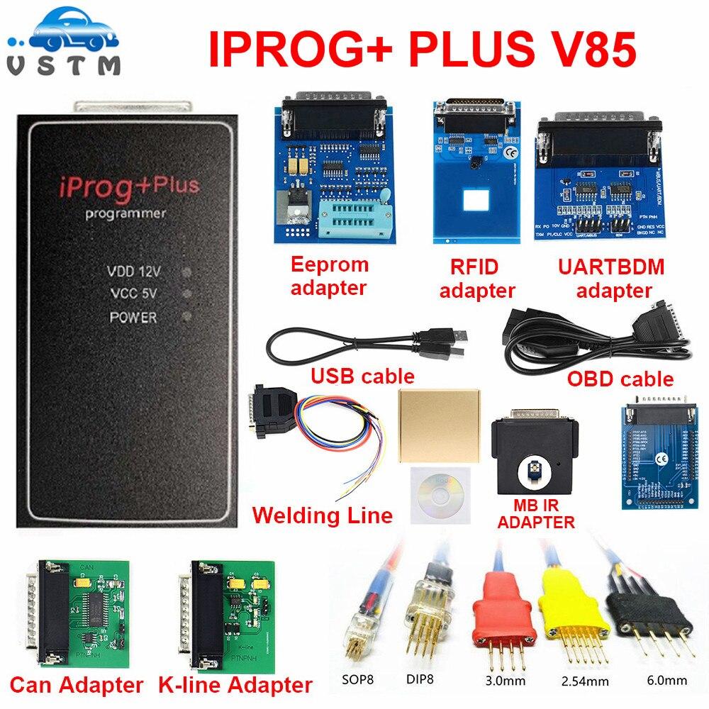 Iprog + mais adaptadores completos 777 iprog 3in1 iprog pro suporte immo + correção de quilometragem + airbag redefinir substituir carprog adaptadores completos