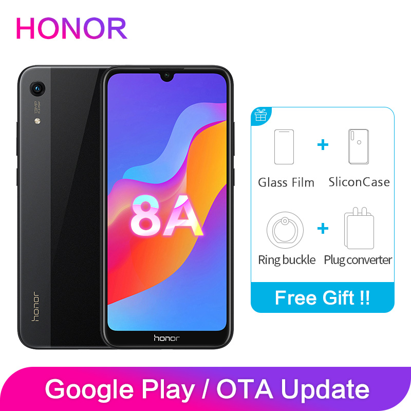 Honor 8A Global ROM 3GB 32GB 64GB 1560x720P 6.09 inch Full Screen Octa Core Android 9 Smart Phones 2 SIM Card 13MP Camera image