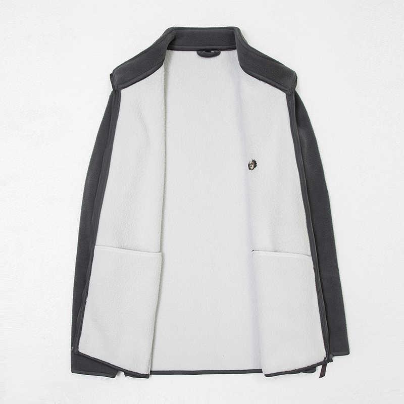 2020 nowych moda gruby aksamit wiatrówka kurtki z polaru mężczyzna jesień zima Trend płaszcz Slim Fit płaszcz na co dzień mężczyźni odzież