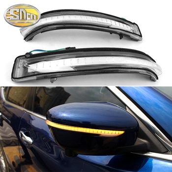 2PCS Dynamic LED Turn Signal Light For Nissan Qashqai 2016 2017 2018 Rearview Mirror Indicator Sequential Blinker Lamp