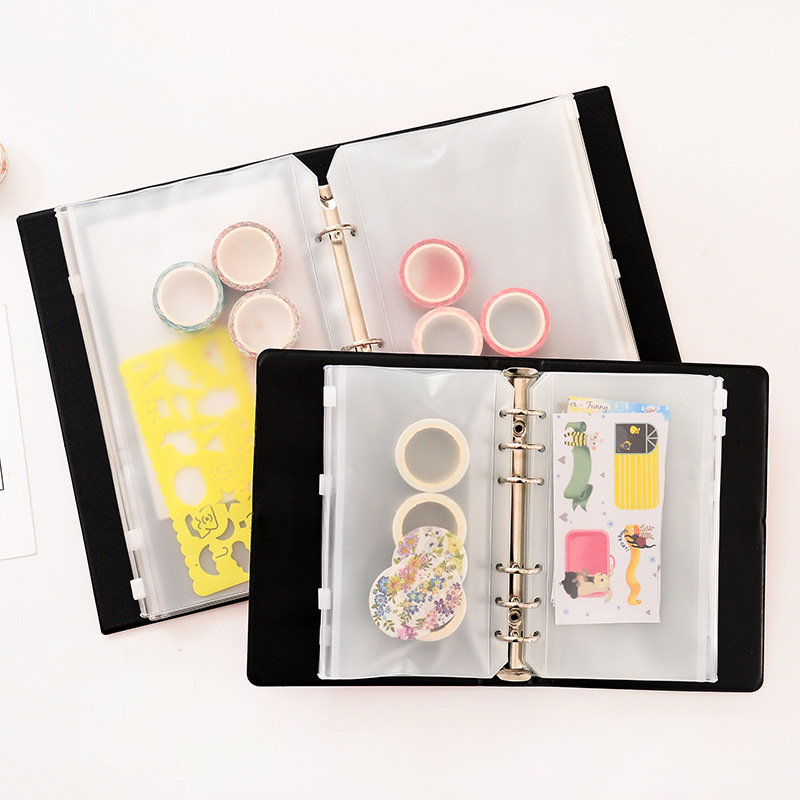 Sticker Storage Book Loose-leaf Creative Japanese Sticker Tape Handbook Storage Book Data Storage Book Bill Storage Loose-leaf