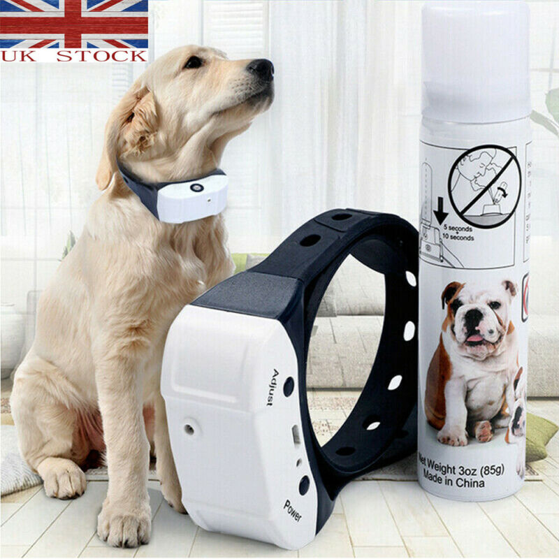 Dog Trainings Stop Barking Rechargeable Citronella Dog Collar Anti Bark Train Mist Spray Dog Supplies