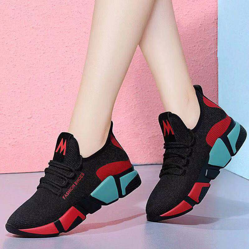 Light Weight Running Shoes For Women Sneakers Women Breathable Zapatos De Mujer Outdoor Walking Flat Shoes Casual Sport Shoes