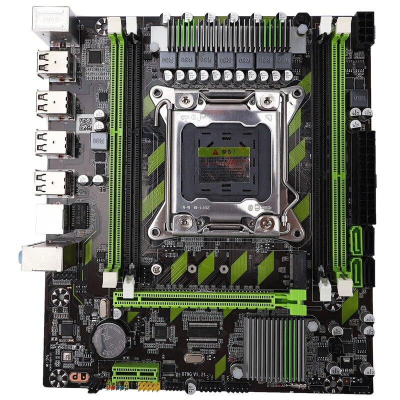X79 Motherboard LGA 2011 4 X DDR3 Dual Channel 64Gb Memory SATA 3.0 PCI-E 8 X USB For Desktop Core I7 Xeon E5
