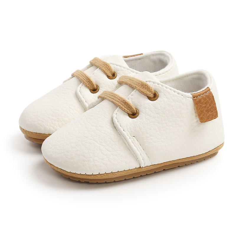 Luxury Soft Leather Baby Moccasins Shoes Newborn Rubber Sole First Walkers Boys Toddler Shoes Infant Girls Anti-slip Prewalkers 5