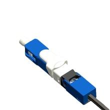 100 sztuk/paczka FTTH ESC250D SC UPC jednomodowy SC UPC światłowodowe szybkie złącze SC PC wbudowanego typu ESC250D złącze SC