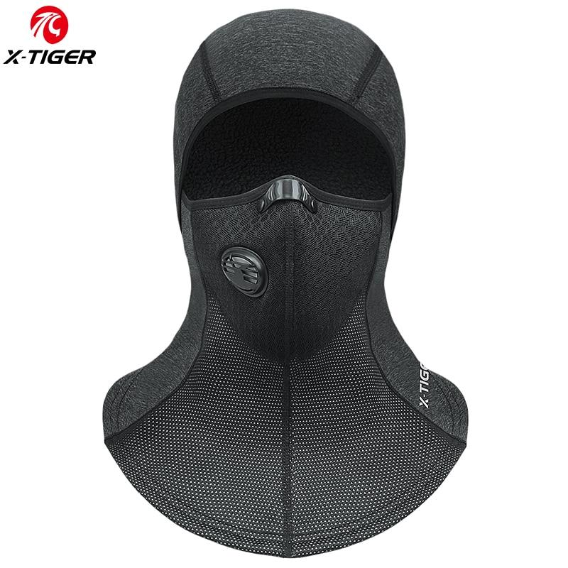 X-TIGER зимняя теплая маска для лица для велоспорта, лыжная маска, Термальный Флисовый Шарф, щит сноуборд, шапка для катания на коньках, велосип...