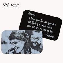 Индивидуальный бумажник подарок для мужа парня с кармашком карт