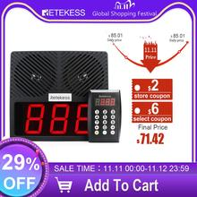 Retekess TD101 Number Calling System Wireless Restaurant Pager Queue Management System Loud Speaker 3 Digit Display for Business