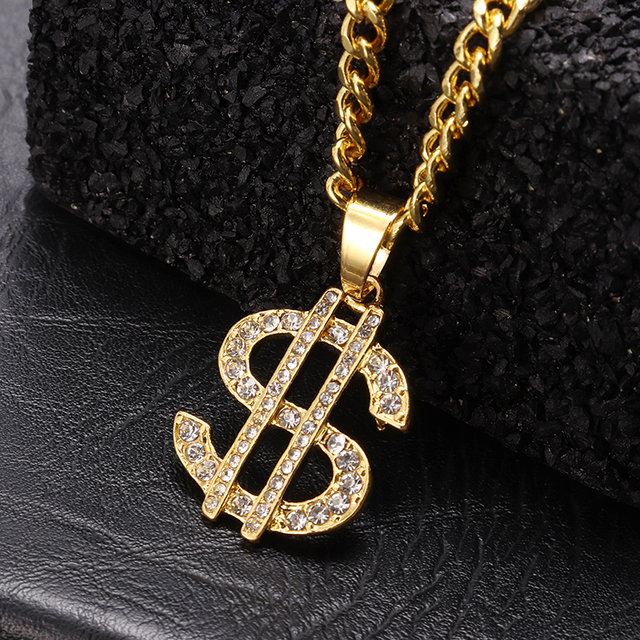 US Dollar Money Sign Pendant Necklaces 2