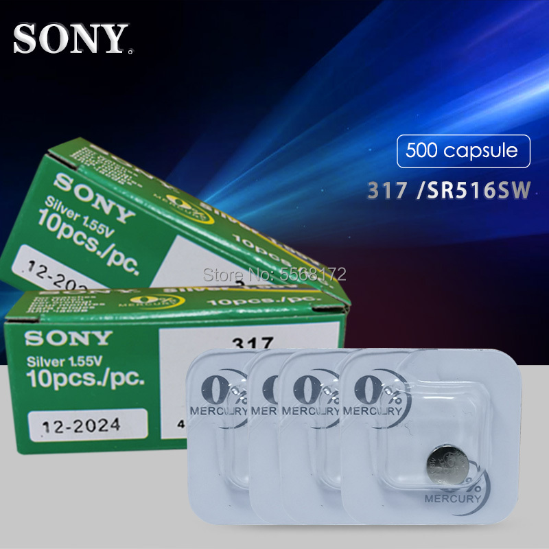 200PCS 1.55V Watch Battery For Sony 317 <font><b>SR516SW</b></font> Single grain Silver Oxide Coin Cell good quality MADE IN JAPAN image