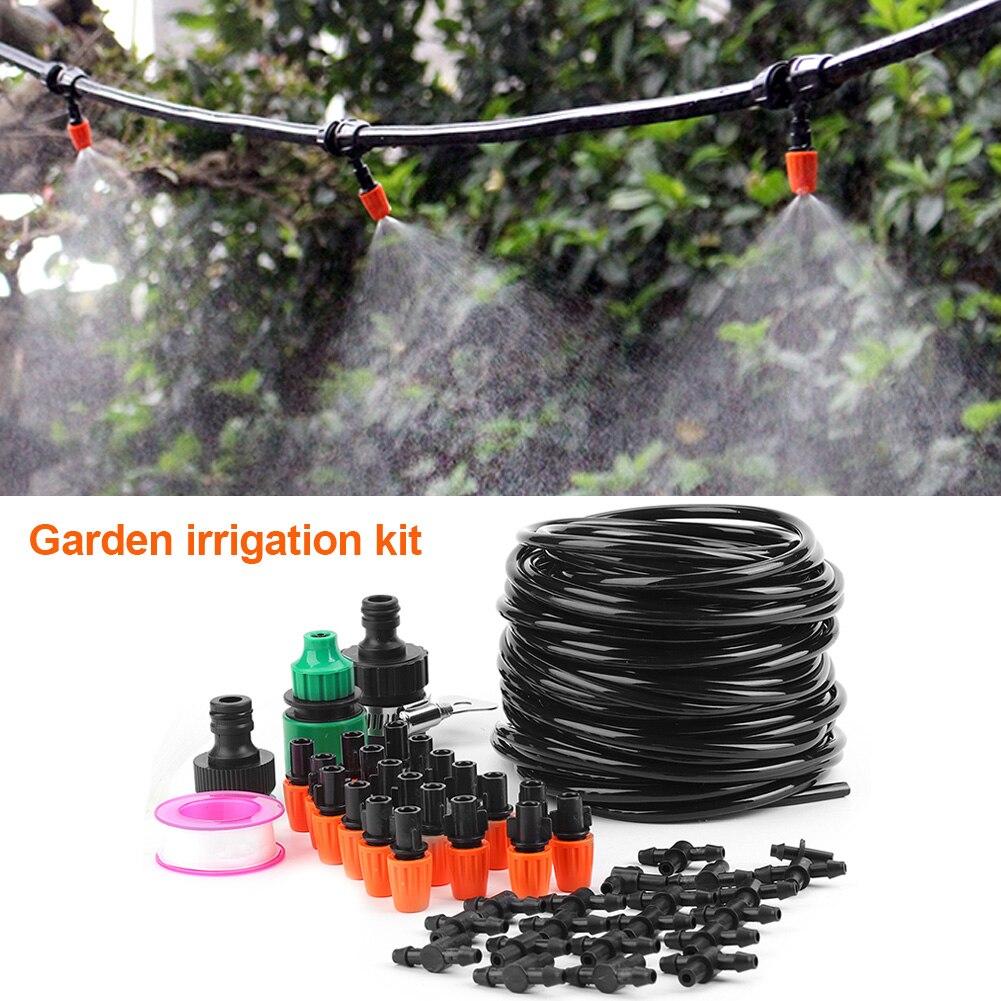 Hohe qualität Micro Wasser Bewässerung System Garten Gewächshaus Pflanzen Automatische Bewässerung 15M Schlauch Set Kit Bewässerung Kit
