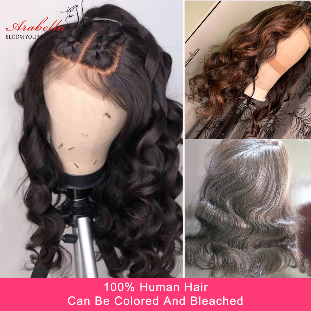 Body Wave Closure Wig 200% Density Arabella 4*4 Lace Closure Pre plucked  Hair 100%  Wigs With Baby Hair 3