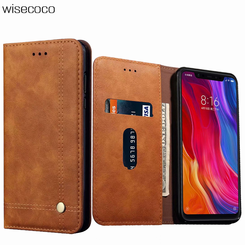 Book Retro Flip Case for Xiaomi Mi 8 Se 9 9t A2 LITE 6X 5X A1 <font><b>Pocophone</b></font> <font><b>F1</b></font> Redmi K20 7 Note 5 <font><b>6</b></font> 7 Pro Luxury Leather Wallet Case image