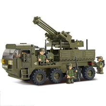 Model building kit compatible with Legoingly  military Transport Vehicle 3D block Educational model building toys hobbies 0302