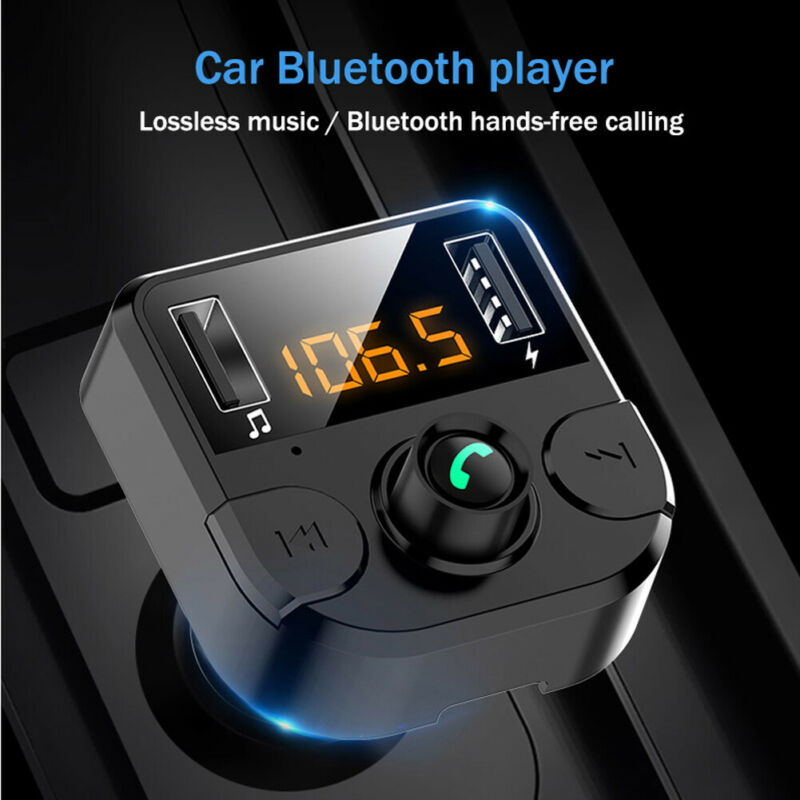 2020 New Car Kit Handsfree Wireless <font><b>Bluetooth</b></font> <font><b>FM</b></font> <font><b>Transmitter</b></font> <font><b>LCD</b></font> <font><b>MP3</b></font> <font><b>Player</b></font> USB Charger 2.1A Car Accessories Handsfree image