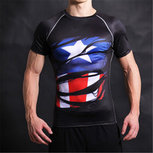 Men Compression Short Sleeve Tshirt Summer Bodybuilding Fitness Sportswear Men Sport Top Running Tight Tee Ropa Deportiva Hombre