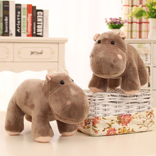 цены New hippo plush toy baby sleep appease hippo fill doll children birthday gift home decoration
