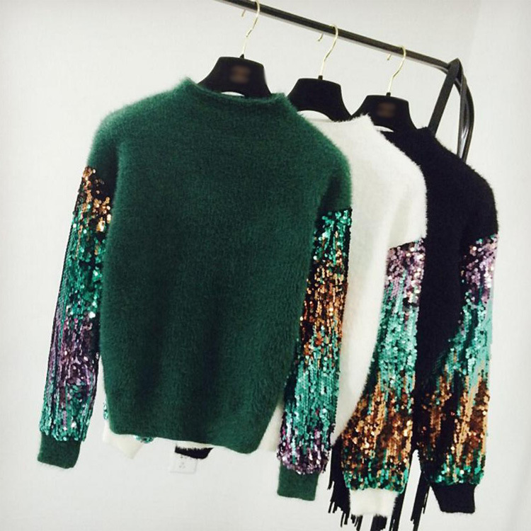 Women Sweater 2018 Autumn Winter Vintage Mohair Pullover Thick Warm Christmas Oversize Female