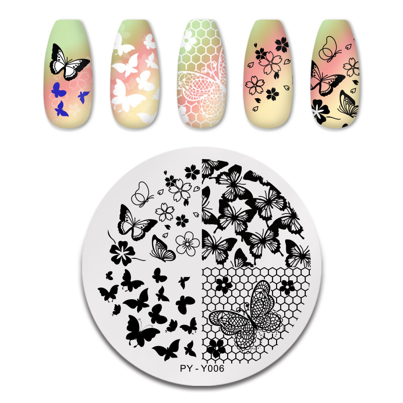 PICT YOU 12*6cm Nail Art Templates Stamping Plate Design Flower Animal Glass Temperature Lace Stamp Templates Plates Image 29