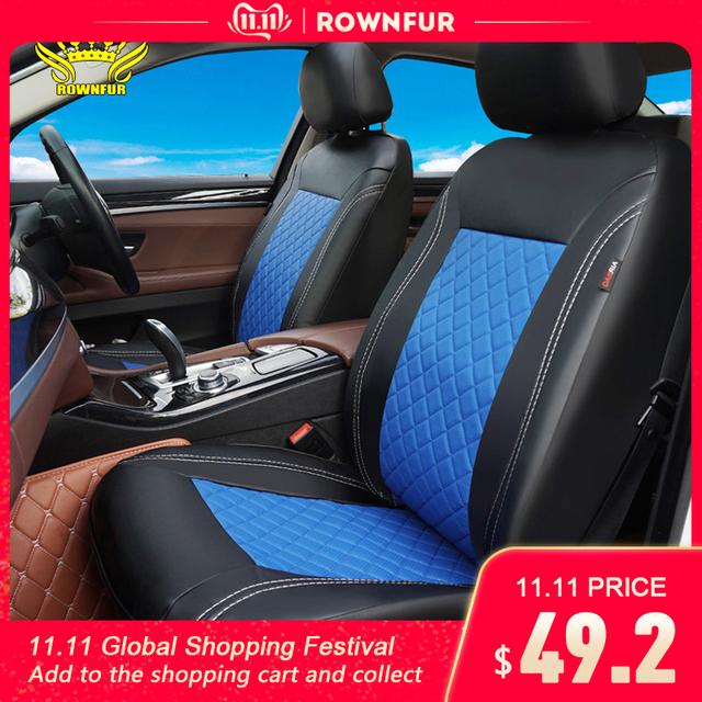 PU Leather Car Seat Covers Luxury Universal Automotive interior Seat Cover for toyota Mazda Volkswagen Hyundai Kia Lada Nissan