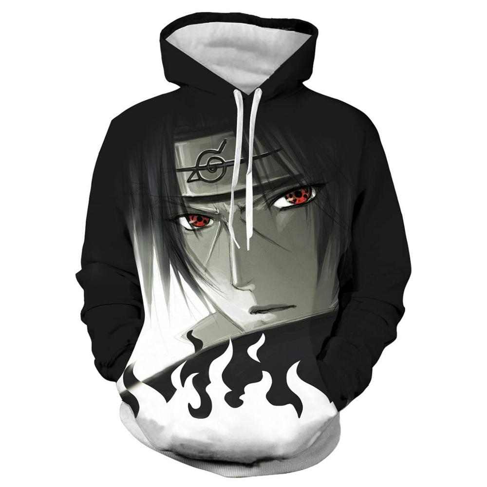 Anime Naruto Men/women 3D Hoodies Sweatshirt Fashion Sasuke Kakashi Cartoon Casual Harajuku Hoody Autumn Thin Coat Streetwear