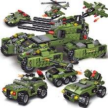 2020 710 шт танк строительные блоки автомобиль самолет мальчик игрушки Фигурки Обучающие блоки военные совместимые блоки LegoINGlys