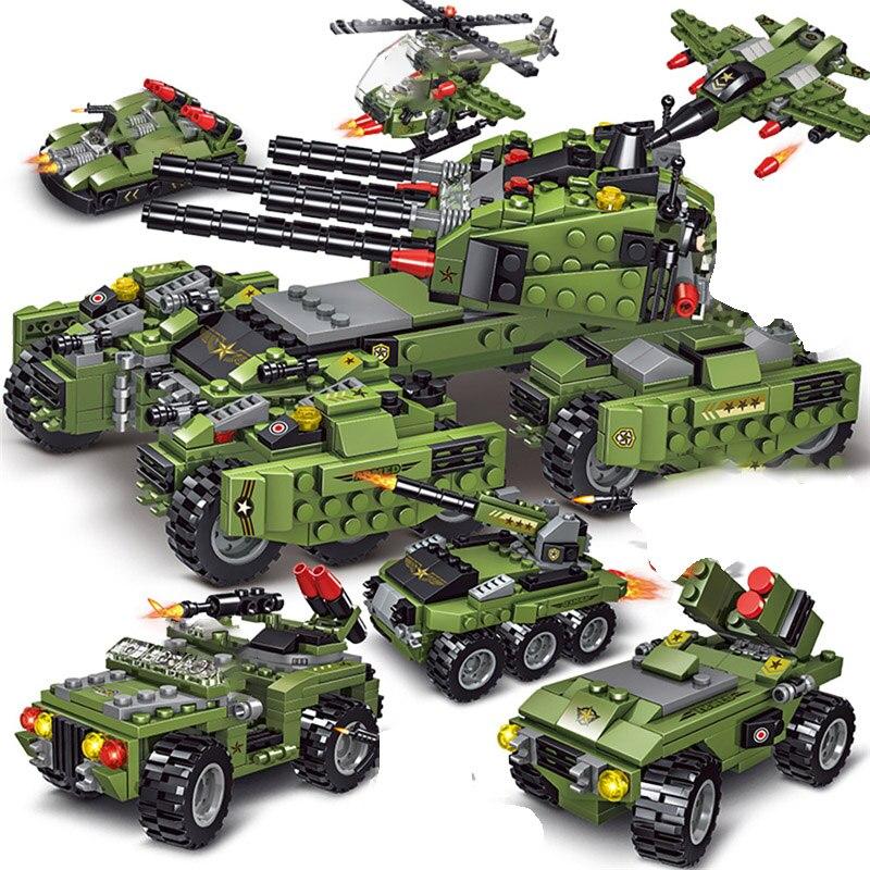 2021 710 sztuk Tank Building Blocks pojazd samoloty zabawki chłopięce figurki klocki edukacyjne wojskowe kompatybilne klocki