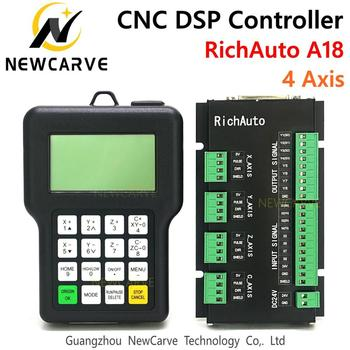 Ричауто DSP A18 4 Axis CNC control ler A18s A18e USB связь система управления движения руководство для CNC роутера NEWCARVE