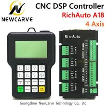 RichAuto DSP A18 4 Axis CNC Controller A18s A18e USB Linkage Motion Control System Manual For CNC Router NEWCARVE 4 axis handle wheel cnc usb pendant manual remote controller jog encoder for mach 3 system