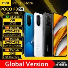 POCO-teléfono inteligente F3 5G, versión Global, Snapdragon 870, ocho núcleos, 6GB, 128GB, de Pantalla AMOLED 6,67