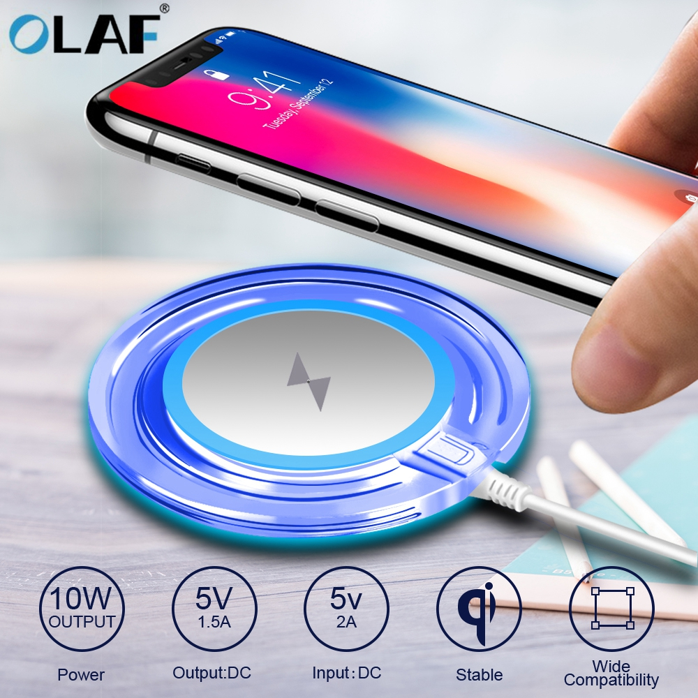 10W Fast Wireless Charger For Samsung Galaxy S10 S9/S9+ S8 Note 9 USB Qi Charging Pad For IPhone 11 Pro XS Max XR X 8 Plus