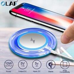10W szybka ładowarka bezprzewodowa dla Samsung Galaxy S10 S9/S9 + S8 uwaga 9 USB podstawka ładująca qi dla iPhone 11 Pro XS Max XR X 8 Plus w Ładowarki bezprzewodowe od Telefony komórkowe i telekomunikacja na