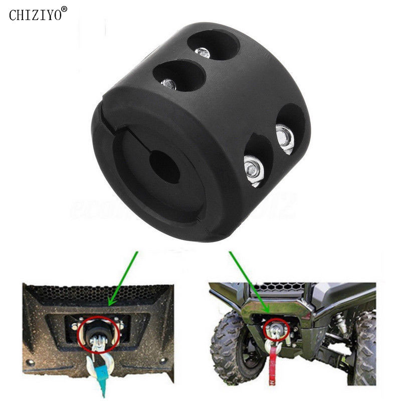 Black Winch Cable Hook Stopper For ATV UTV Winch Cable Hook Mount Stop Stopper Rubber Cushion With Wrench CHIZIYO