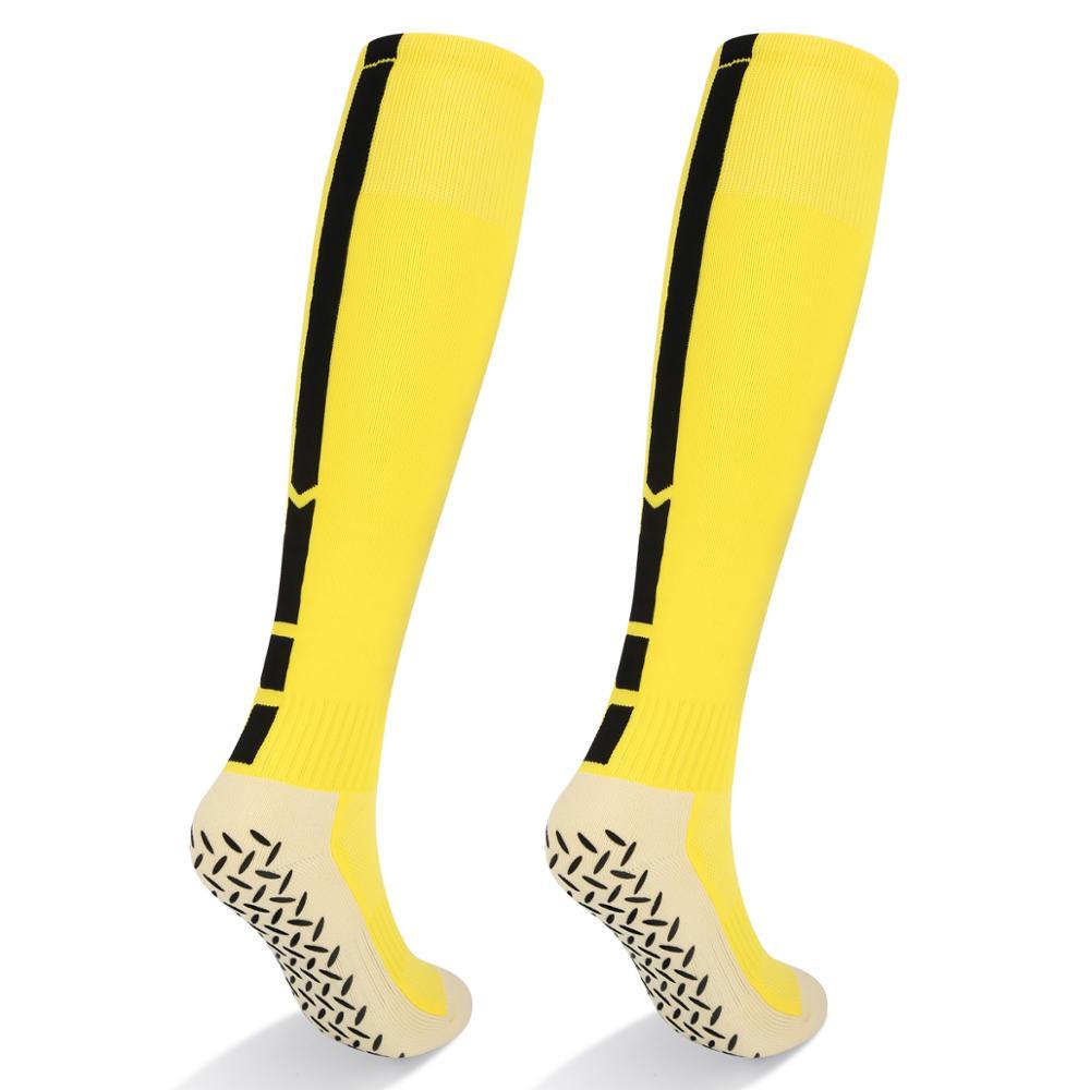 YUEDGE Men Anti Slip Sport Socks Cotton Stocking Knee-High Football Soccer Sock