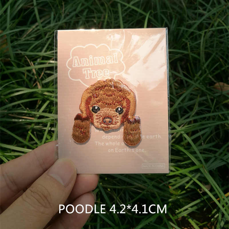 1 pic 의류 액세서리 만화 개 아기 코트 가슴 붙여 넣기 자수 패치 헝겊 붙여 넣기 어린이 의류 장식