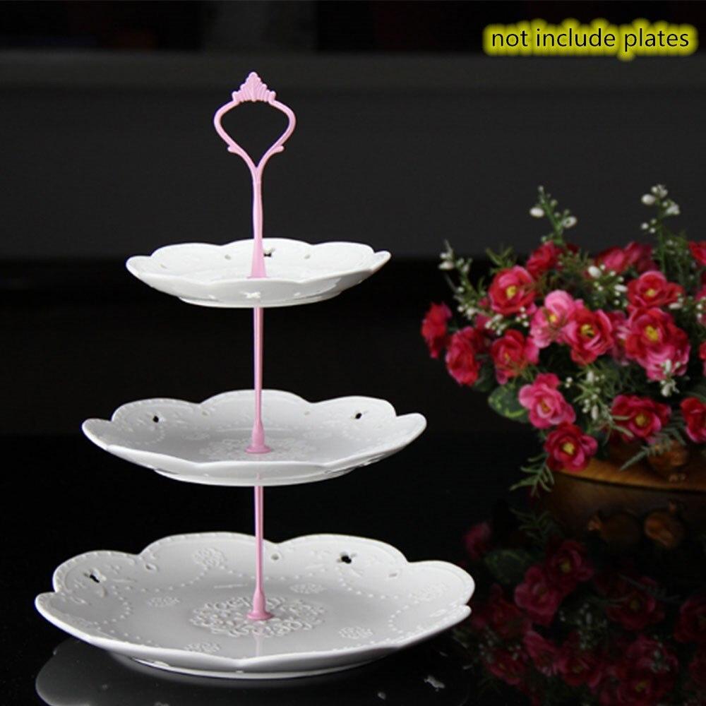 Металлический держатель для торта, подставка для торта, 2 уровня, фурнитура, 3 уровня, корона, металлическая пластина для торта, подставка для торта, вечерние, золотые, для дома, кухни, Аксессуары для выпечки - Цвет: 3 layers pink