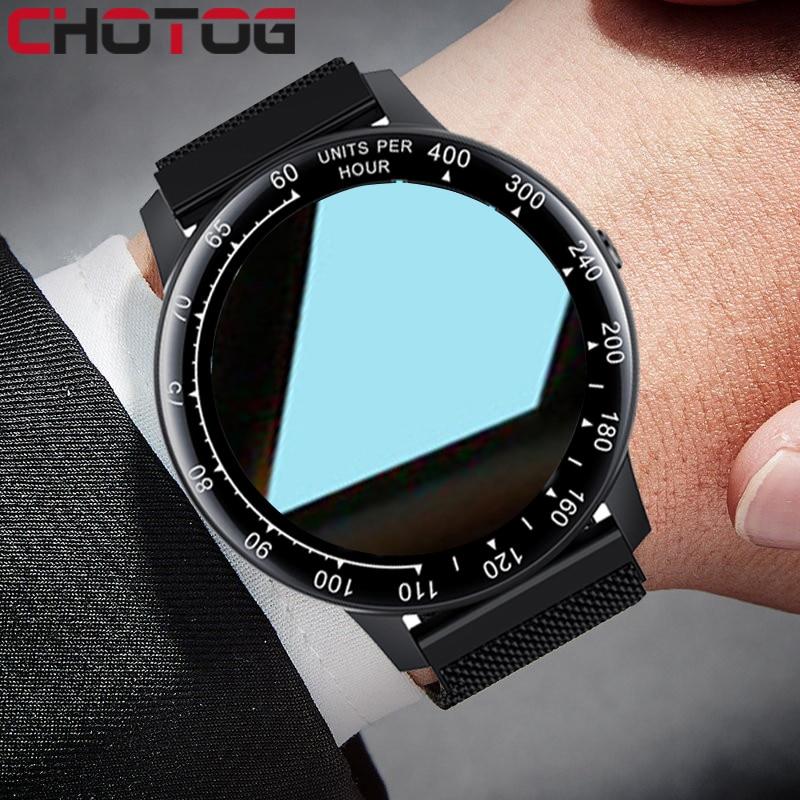 Смарт-часы с круглым экраном 2021, тонометром и функцией отслеживания сердечного ритма