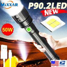 LED Flashlight 26650 Usb 18650 Waterproof Torch Zoom XHP90.2 XHP70 Rechargeable Camp