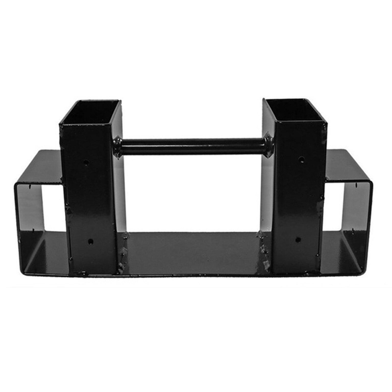 Firewood Log Storage Rack Bracket Kit with Screws Fireplace Wood Storage Holder Adjustable for Indoor/Outdoor Black TB Sale