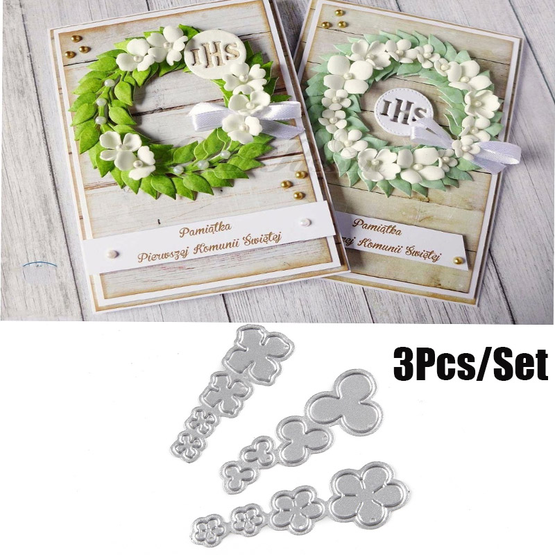 Metal Cutting Dies Cut Die Mold Flowers 4 Scrapbook Paper Craft Knife Mould Blade Punch Stencils Dies