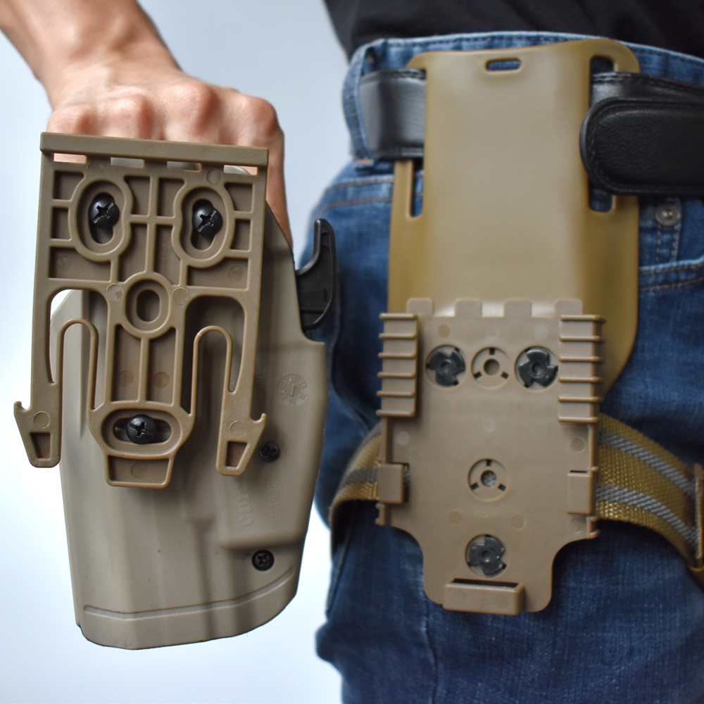 Safa Tactical Thigh Strap Quick Locking System Gun Accessories Tactical Drop Leg Elastic Band Strap with QLS 19 22